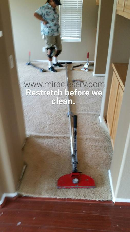 Miracle Services carpet stretching