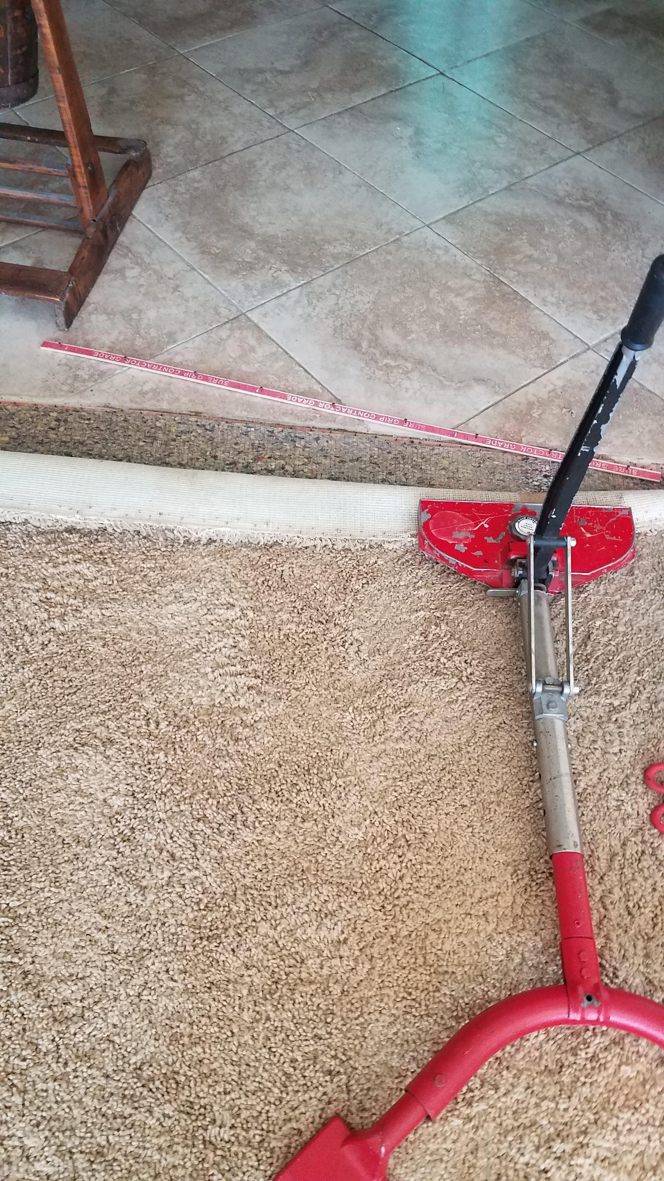 Carpet coming up repair